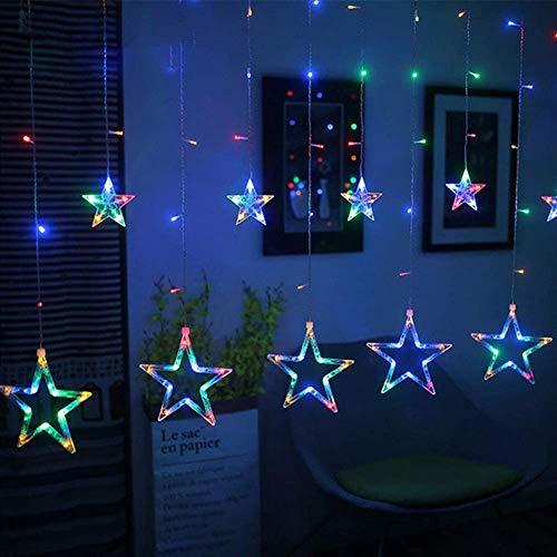 LICHENGTAI LED-Lichterketten, weihnachtsbaum lichterkette, sternenlichterkette, weihnachtsdeko fenster, lichterketten vorhang Für Fenster Weihnachtsbäume (US Spezifikationen)