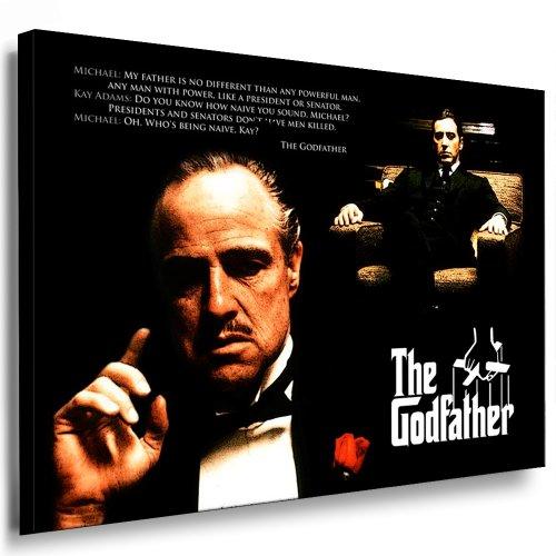 Boikal / Leinwand Bild The Godfather - Film - der Pate Leinwanddruck, Kunstdruck fm37 Wandbild 100 x 70 cm