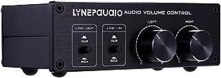 Homyl Controlador de Ajuste de Volume Frontal de 2 Entradas E 2 Saídas, Fonte de áudio Dupla