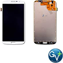 Group Vertical Replacement LCD Digitizer Assembly Compatible with Samsung Galaxy Mega 6.3 - White (GT-I9150, GT-I9152, GT-I9200, GT-I9205) (GV+ Performance)