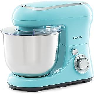 Einfache Handhabung Klarstein Bella Pico 2G Küchenmaschine Rührmaschine, 1200 W / 1,6 PS in 6 Leistungsstufen mit Pulsfunktion, Planetarisches Rührsystem, 5 l Edelstahlschüssel, 3-tlg, blau