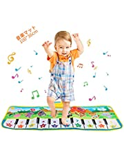 Best Fire 音楽マット プレイマット ピアノマット 折り畳み 多機能ベビーマット 安全無毒 滑り止め 100*36cm 知恵玩具 防水 プレイマット クッションマット