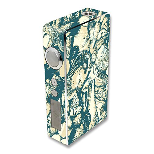 MightySkins Skin Compatible with Sigelei 100W Plus / 150W – Tan Seashells | Protective, Durable, and Unique Vinyl Decal wrap Cover | Easy to Apply, Remove, and Change Styles | Made in The USA