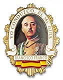 Outletdelocio. Placa metalica Francisco Franco. Especial para cartera de bolsillo