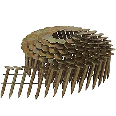 """Metabo HPT 12111HPT High Wire Coil Roofing Nails   1-1/4"""" x .120""""   Smooth Shank   Fits Hitachi Power Tools/Metabo HPT NV45AB2 Roofing Nailers   7200 Count by Metabo HPT"""