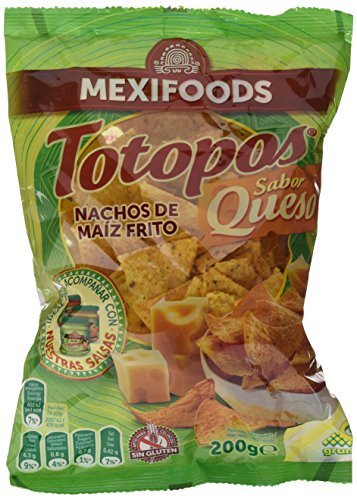 Mexifoods Totopos Queso Mexi - 5 Paquetes de 200 gr - Total: 1000 gr