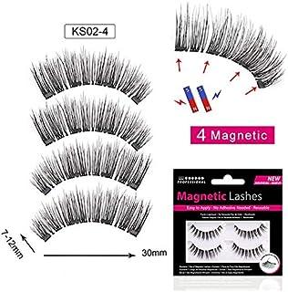c6c9f1ae463 LUCILAS Eyelashes Magnetic Lashes Natural Full Eye 0,4x0,6 inch Plastic Handmade  Magnetic