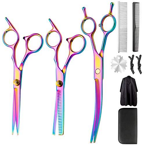 Juego de tijeras profesionales de peluquería – Tijeras de corte de pelo...