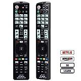 Alkia Telecomando luminoso universale LG-1LC per LG TV/LEARN/HDTV/3D/LCD/LED, funziona con tutti i televisori LG (LED, LCD, Plasma)