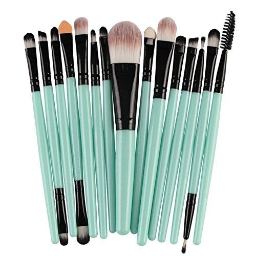 LinZX Ensemble Brosse 15PCS, brosses de Maquillage des Yeux,14
