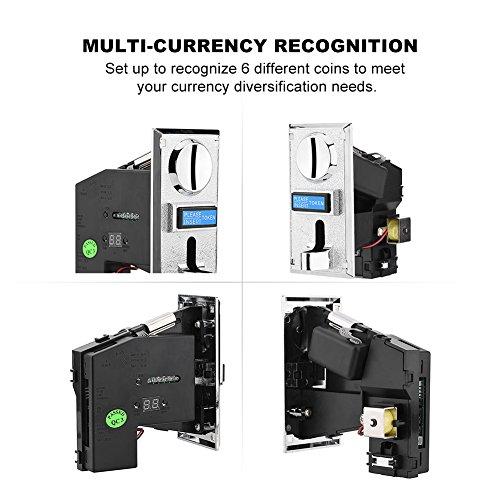 Wendry Máquina con Monedas,Multi-Coin Smart Coin Slot,Tragamonedas de Juegos Multi-Function,Reconocimiento de Monedas Múltiples,para Máquina Expendedora, Teléfono a Monedas, Lavadora a Monedas