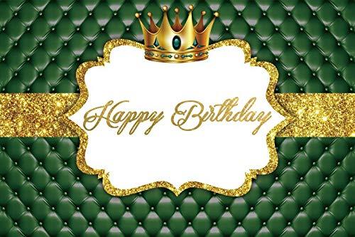 Fondo de fotografía de Princesa Rosa Corona Dorada Cartel de Fiesta de Feliz cumpleaños Retrato Foto de Fondo Estudio fotográfico A22 5x3ft / 1,5x1m