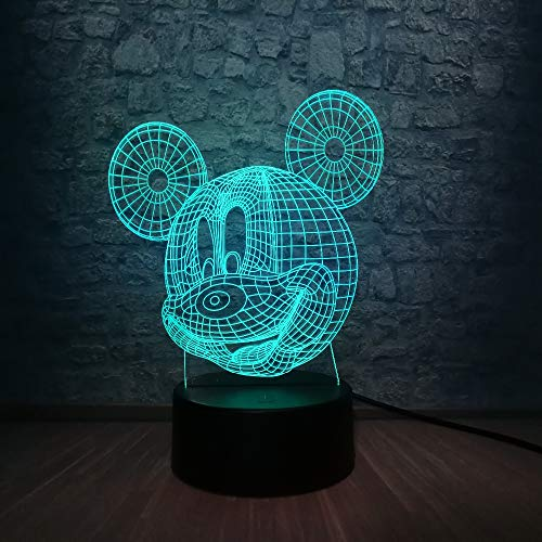 Cartoon Kaii 3D LED Night Light Multicolor Illusion Atmosphere Home Decorative Chlid Gift Toy