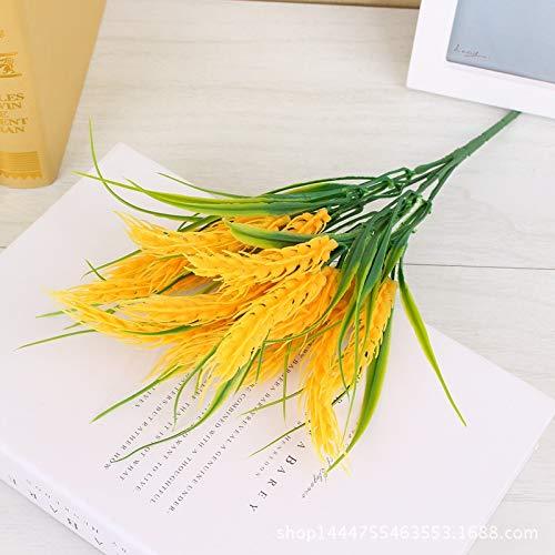 Simulatie van rijst en tarwe oor plastic bloemen, landelijke stijl decoratieve nep bloemen, bloemen simulatie kunstbloemen in de woonkamer