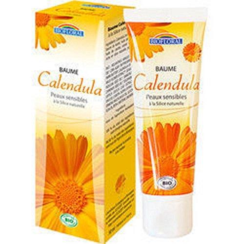 Biofloral Baume calendula et Silice, Apaise naturellement, Idéal pour les peaux sèches, 50 ml