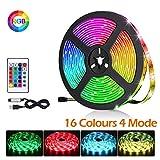 BACKTURE Rubans à LED, 2M 60 LED 5050 RGB Lumière Décorative Multicolore Bande avec Télécommande, pour Décorative TV...