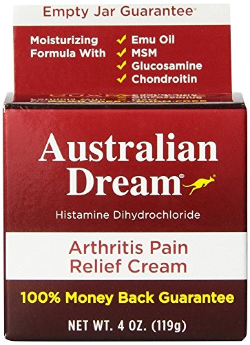 Australian Dream Arthritis Pain Relief Cream, 4 Ounce per Jar (2 Jars)