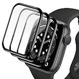 SHINEZONE Apple Watch フィルム Apple Watch Series SE / 6 / 5 / 4 44mm ガラスフィルム 指紋防止/ゼロ気泡/貼りやすい/ぶつかりと擦れには強い【3枚入り】