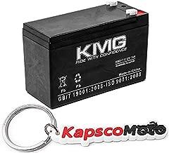 KMG 12V 7Ah F1 / F2 Terminal Sealed Lead Acid KMG-7-12 Battery Replaces Yuasa NP7-12 + KapscoMoto Keychain