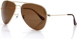 VEGOOS Mens Aviator Sunglasses Polarized Mirrored Lens Large Metal Frame Driving Sunglasses 100% UV Protection Ladies Shades