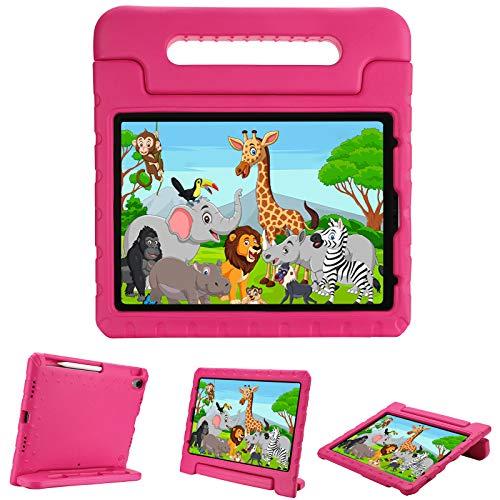 ProCase Funda Infantil para iPad Air 4 10.9' 2020 y iPad Pro 11' 1ª Generación 2018, Carcasa Niño Antigolpes, Admite Carga/Fijación de Apple Pencil 2ª Gen, Asa de Mano Uso Rudo - Magenta