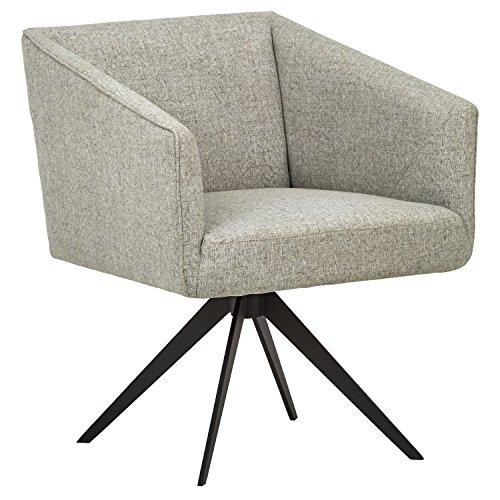 Rivet Vibe - Silla de escritorio tapizada con sistema giratorio, 64 cm de ancho (gris claro)