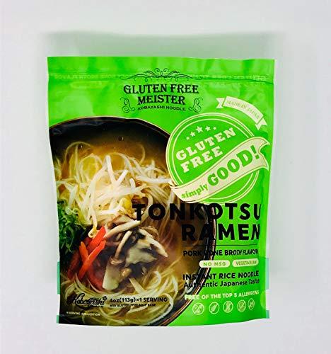 グルテンフリーインスタントとんこつ風ラーメン6食スープ付