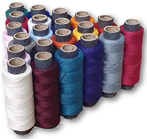 Pharos - Set di 20 fili per cucire industriali, in poliestere, multiuso, 250 m, per cucire a mano o a macchina