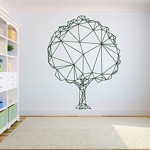 Wopiaol Geometrische polygonale vinyl muurtattoo boom abstracte verwijderbare PVC muursticker Home Decor slaapkamer woonkamer DIY stickers