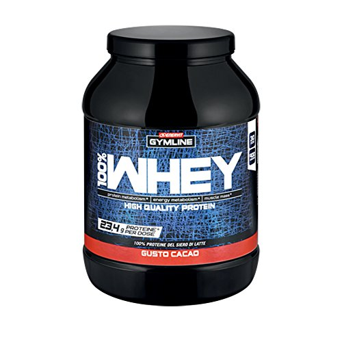Gymline Muscle 100% Whey Concentrate Cacao, Standard, 900G
