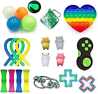 21 Pack Sensory Toys Set, Relieves Stress and Anxiety Fidget Toy for Children Adults, Special Toys Assortment for Birthday...