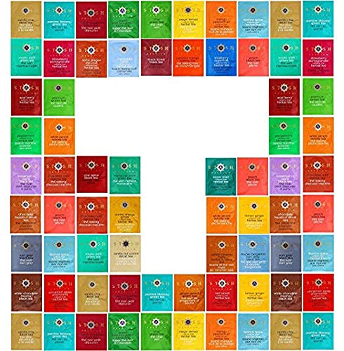Tea Bags Sampler Assortment 48 Individual Flavors Of Stash Teas Packed In Luxurious Gift Box