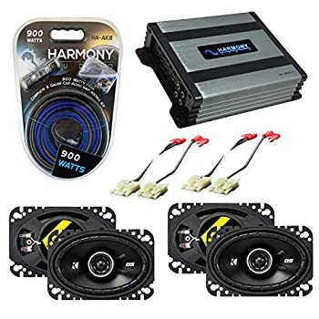 Compatible with Chevy CK Truck  Full Size  88-94 Speaker Replacement Kicker Bundle  2  DSC46 & Harmony HA-A400.4