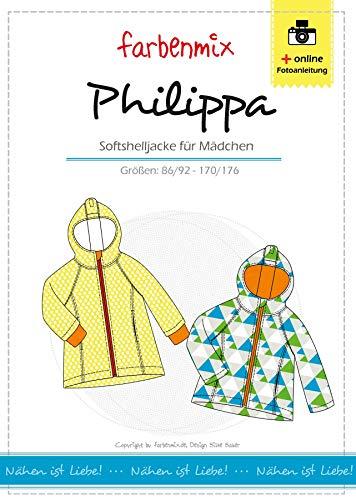 Farbenmix Philippa Schnittmuster (Papierschnittmuster für die Größen 86/92-170/176), Softshelljacke