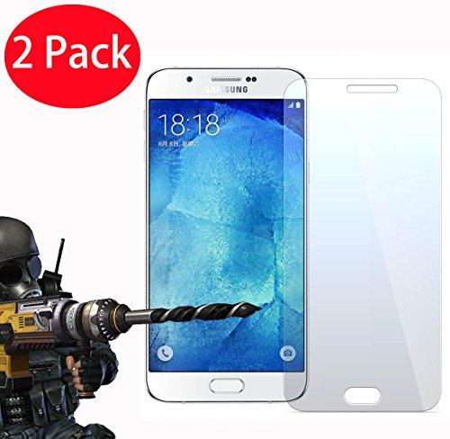 Preisvergleich Produktbild FoneExpert® 2 Pack - Samsung Galaxy A8 Panzerglas,  Gehärtetem Schutzfolie Glasfolie Hartglas Panzerfolie Displayschutzfolie für Samsung Galaxy A8