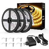 Onforu 15M Ruban LED Exterieur, IP65 Étanche, 3000K Blanc Chaud, 450 LEDs, LED Bande...