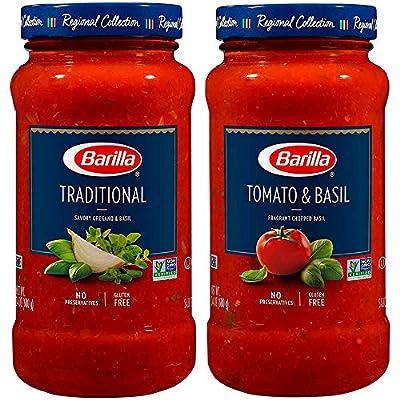 BARILLA Tomato & Basil and Traditional Premium Pasta
