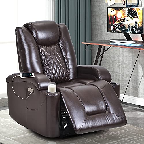 Power Electric Recliner Chair with USB Charge Port and Cup Holder