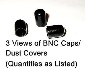100 Pack - BNC/Coax Black Rubber Dust Covers/Caps. (.5 tall. .343 ID)