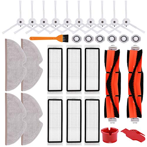 KEEPOW Accessories Kit fit for Xiaomi Roborock S6 MaxV S6 Pure S6 E4 S5 S5 max E35 E25 E20 S50 S51 Robotic Vacuum