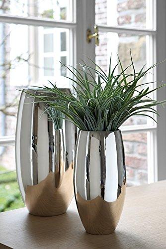 Fink Africa/Vase,vernickelt/H.28cmD.14cm