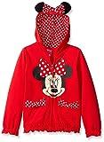 Disney FREEZE Little Girls' Minnie Polka Dot Bow Toddler Hoodie, Red, 3T