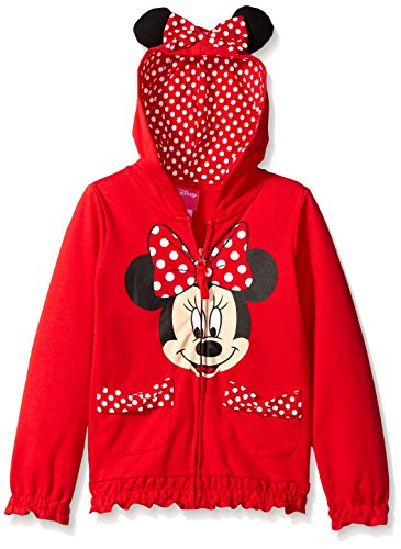 FREEZE Little Girls' Toddler Minnie Polka Dot Bow Toddler Hoodie, Red, 4T