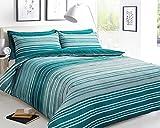 Sleepdown Juego de Funda nórdica Doble, algodón, Color Verde Azulado