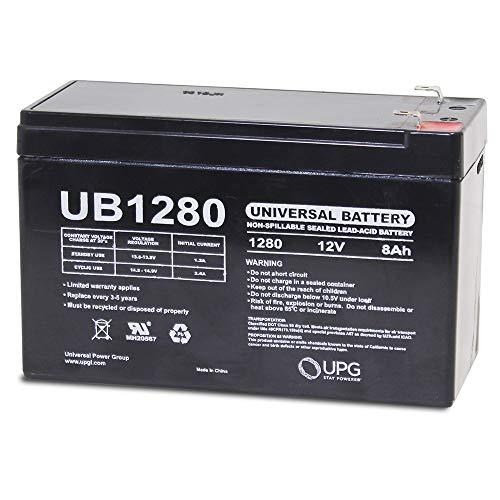 Universal Power Group UB1280-12 Volt 8Ah Capacity - F1 Terminal SLA Replacement Battery