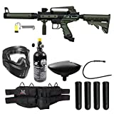 Maddog Tippmann Cronus Tactical Silver Paintball Gun Package (Tactical Black/Olive HPA Kit)