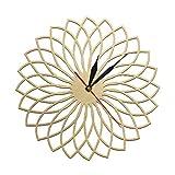 yage Mandala Floral Arte de Pared Moderno geométrico Cortado con láser Reloj de Pared de Madera máquina de Bordado diseño Reloj de Pared Elegante decoración del hogar