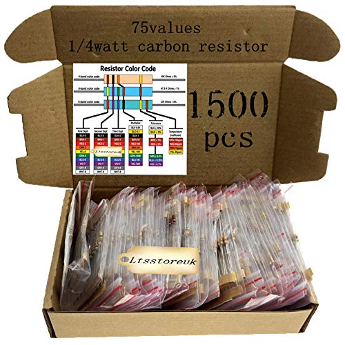 Axial Lead sourcing map 400Pcs 2.2K Ohm Resistor 4 Bands for DIY Electronic Projects and Experiments 1//4W 5/% Tolerance Carbon Film Resistors