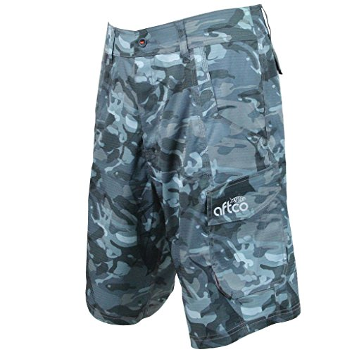 """AFTCO Tactical Fishing Shorts - Blue Camo - Size 40"""""""