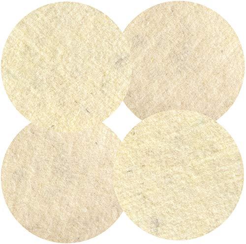 HPS® 4-Stück Soft-Sheep - Wollpads -Schafschurwolle - Polierpad Ø30cm - Polierbad für geöltes, versiegeltes Parkett, Laminat, Marmor, Granit, PU-Epoxy Böden, Linoleum, und Vinyl. Für Overmat Poliermaschine Floorboy XL 300 - Floorboy Pads